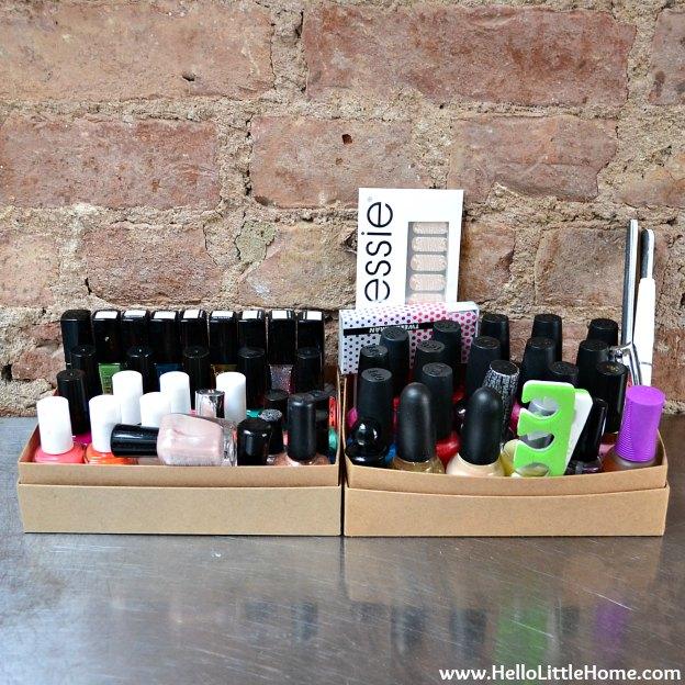 Hall Closet Makeover: Organizing My Nail Polish | Hello Little Home