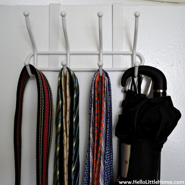 Hall Closet Makeover: Over the Door Rack | Hello Little Home