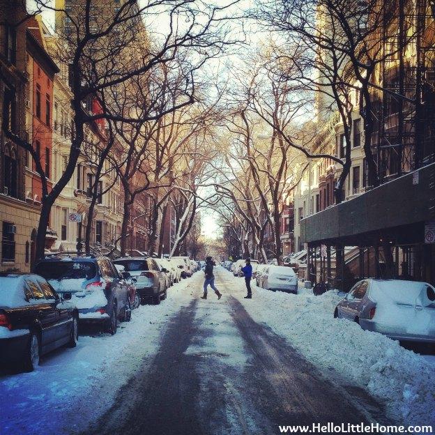 Snowy Neighborhood Street | Hello Little Home