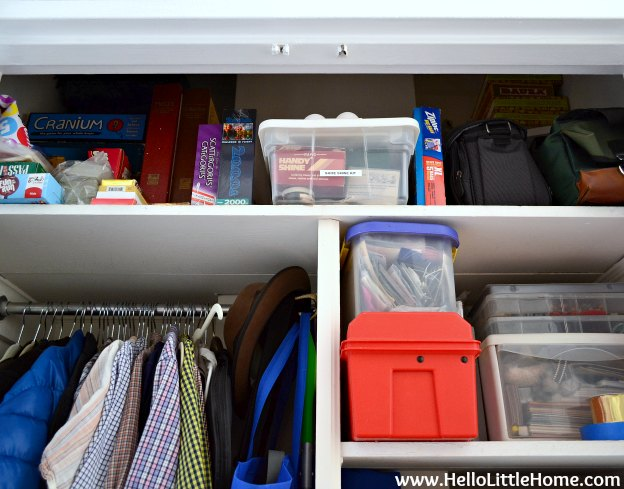 Hall Closet Makeover: Top Shelf | Hello Little Home