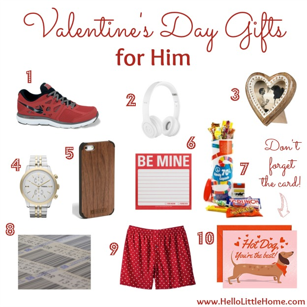 Valentine's Day Gifts for Him | Hello Little Home
