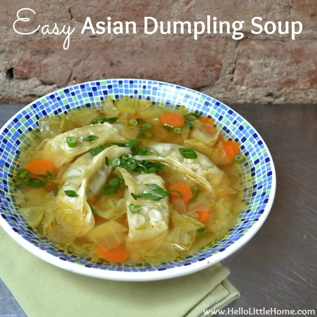 Easy Asian Dumpling Soup | Hello Little Home #MotivationMonday #recipe #healthy