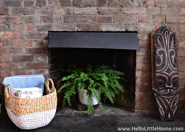 Rental Revamp: Fireplace Makeover Closeup | Hello Little Home