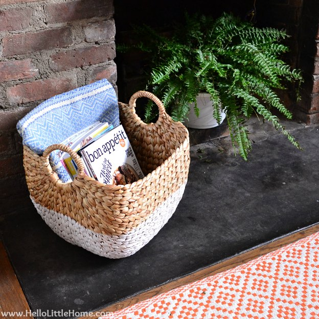 Rental Revamp: Fireplace Makeover with Basket & Fern | Hello Little Home