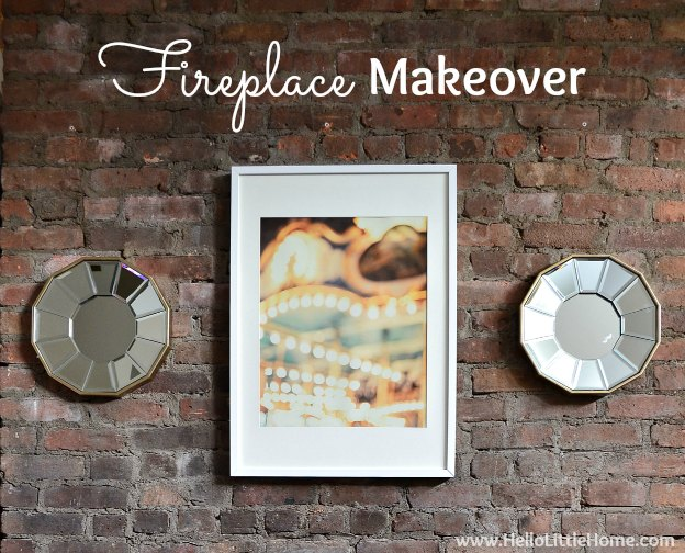 Rental Revamp: Fireplace Makeover | Hello Little Home
