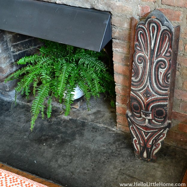 Rental Revamp: Fireplace Makeover with Mask | Hello Little Home