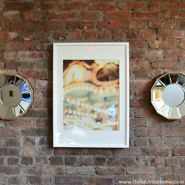 Rental Revamp: Fireplace Makeover with Art & Mirrors | Hello Little Home