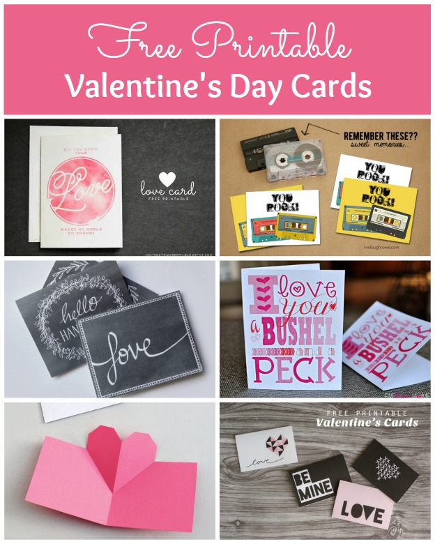 Free Printable Valentine's Day Card Roundup | Hello Little Home