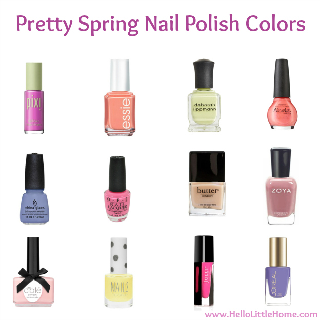 Pretty Spring Nail Polish Colors | Hello Little Home #manicure #pedicure