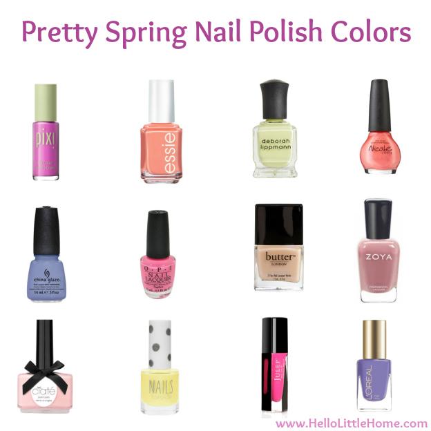 Pretty Spring Nail Polish Colors | Hello Little Home #manicure #pedicure