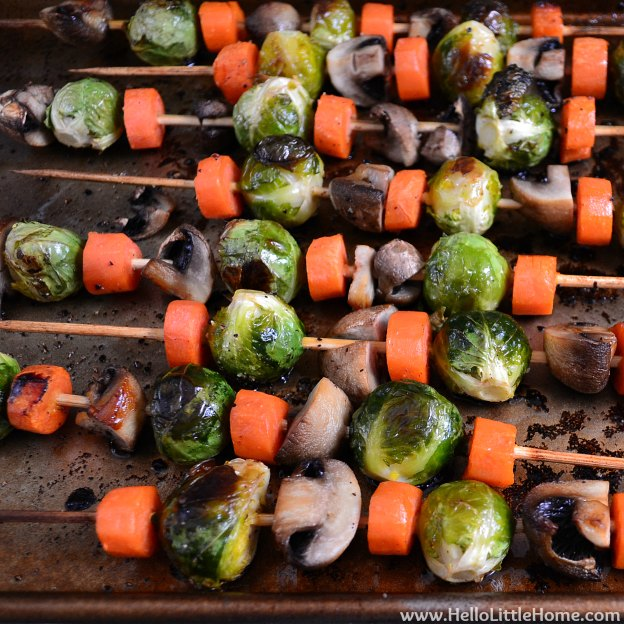 Roasted Veggie Kabobs | Hello Little Home
