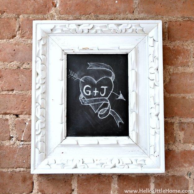 Valentine's Day Around My Home: Chalkboard | Hello Little Home