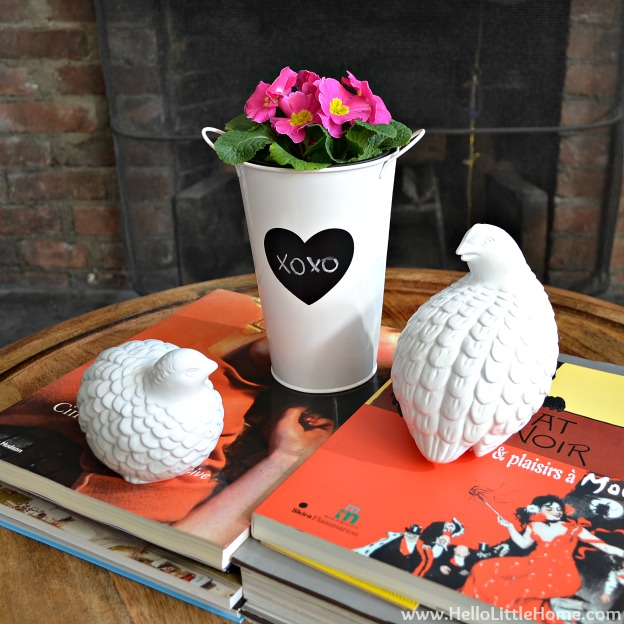 Valentine's Day Decor Around My Home: Flowers | Hello Little Home