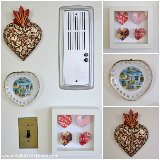 Valentine's Day Decor Around My Home: Heart Gallery Wall | Hello Little Home