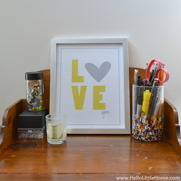 Valentine's Day Decor Around My Home: Love Art | Hello Little Home