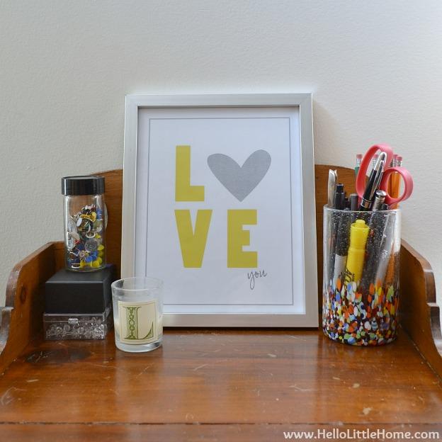 Valentine's Day Decor Around My Home: Love Art | Hello Little Home