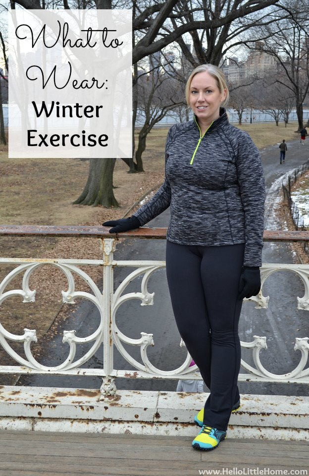 What to Wear: Winter Exercise | Hello Little Home