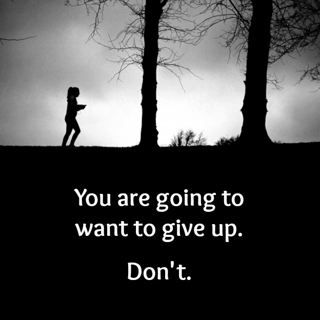 You are going to want to give up. Don't.   Hello Little Home #MotivationMonday