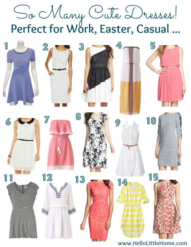 Cute Spring Dresses: Perfect for Work, Easter, Casual ... | Hello Little Home