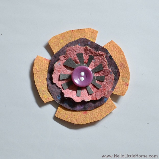 DIY Spring Flower Art: Assembled Flower | Hello Little Home #craft #flowers