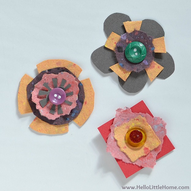 DIY Spring Flower Art: Assembled Flowers | Hello Little Home #craft