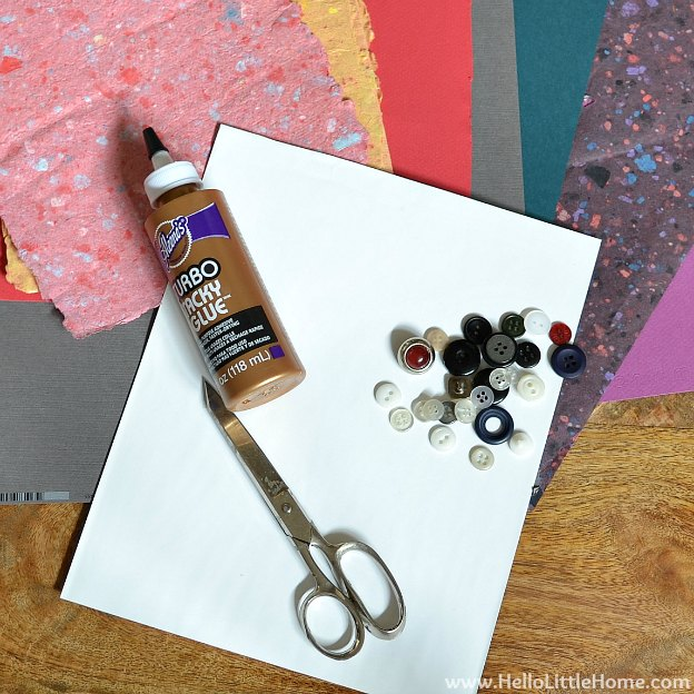 DIY Spring Flower Art: Supplies | Hello Little Home #craft #stripes #flowers