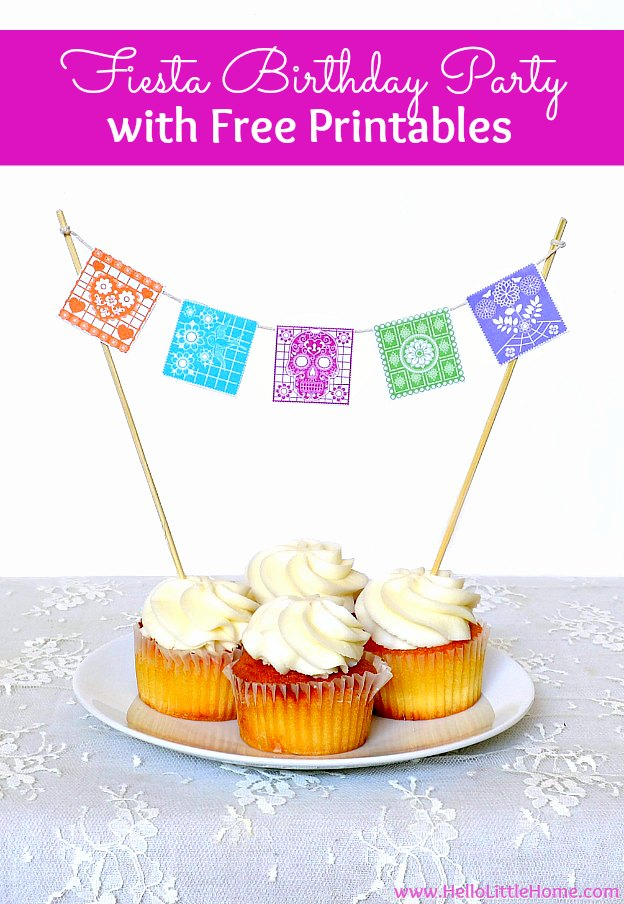 diy fiesta birthday party with free printables celebrate someone special with this free printable bunting