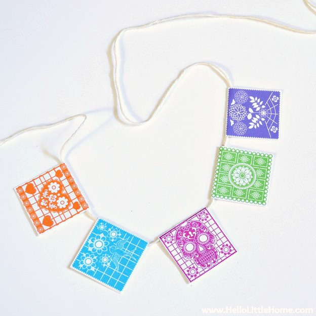 DIY Fiesta Birthday Party with free printables! Celebrate someone special with this free printable bunting and more! Perfect for birthday parties and other festive occasions, like Cinco de Mayo! | Hello Little Home