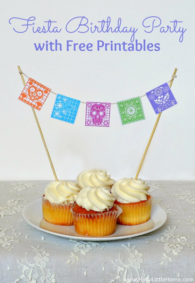 Fiesta-Themed Birthday Party with Free Printables | Hello Little Home