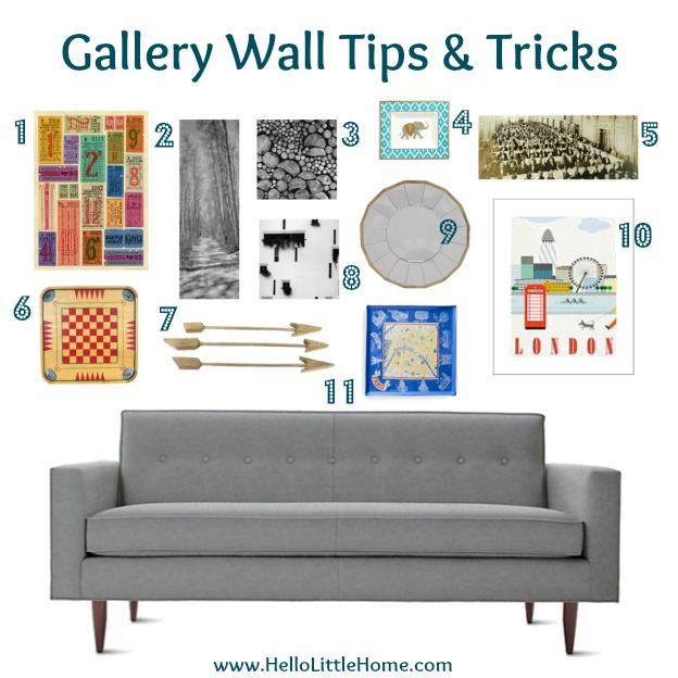 Gallery Wall Tips & Tricks | Hello Little Home #Interior Design #Decor #Art