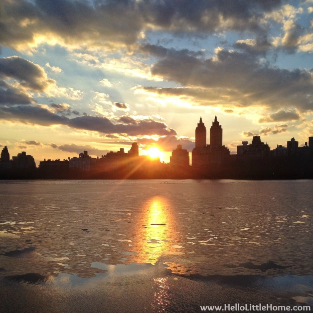 New York Central Park Reservoir Sunset | Hello Little Home