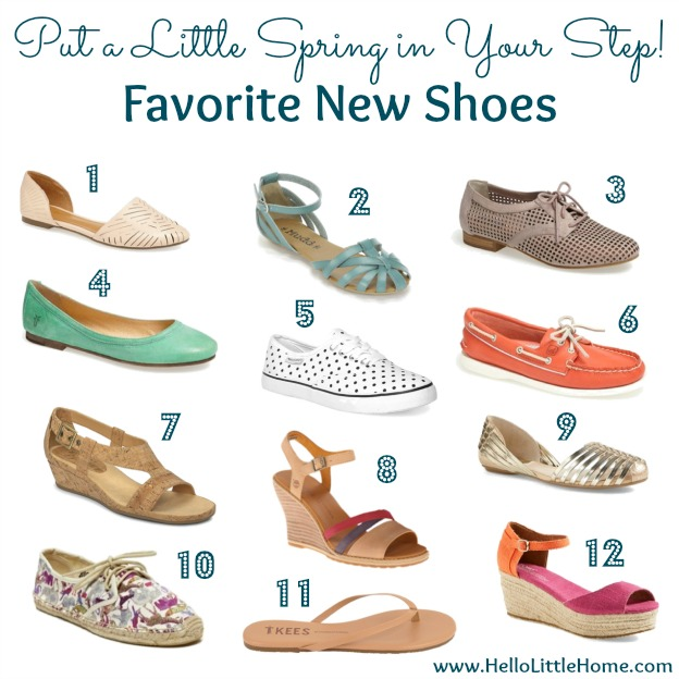 Put a Little Spring in Your Step: Favorite New Shoes | Hello Little Home