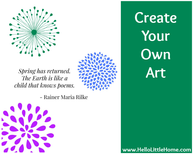 5 Ways to Improve Your Home for Free: Create Your Own Art   Hello Little Home