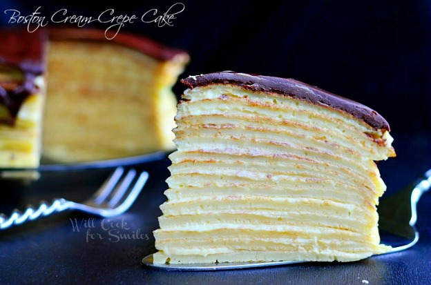 Boston Cream Crepe Cake from Will Cook for Smiles