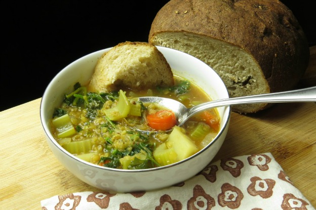 Vegan Lentil Soup from Bed Stuy Foodie