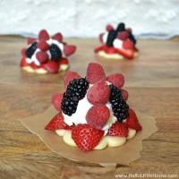 Delicious Berry Cream Tarts
