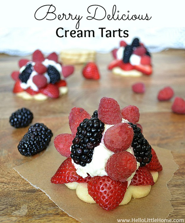 Berry Cream Tarts | Hello Little Home #dessert #cheesecake #fruit