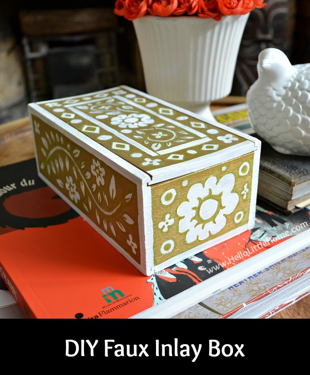 DIY Faux Inlay Box | Hello Little Home #craft #DIY