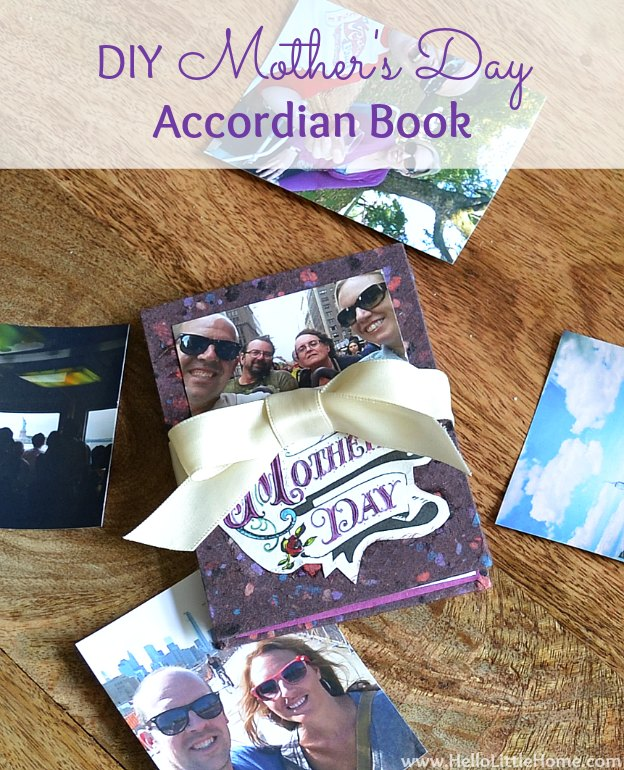DIY Mother's Day Accordian Book | Hello Little Home #bookmaking #craft #bookbinding