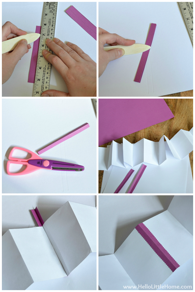 DIY Mother's Day Accordion Book: Creating the Pages | Hello Little Home #bookmaking #craft #bookbinding
