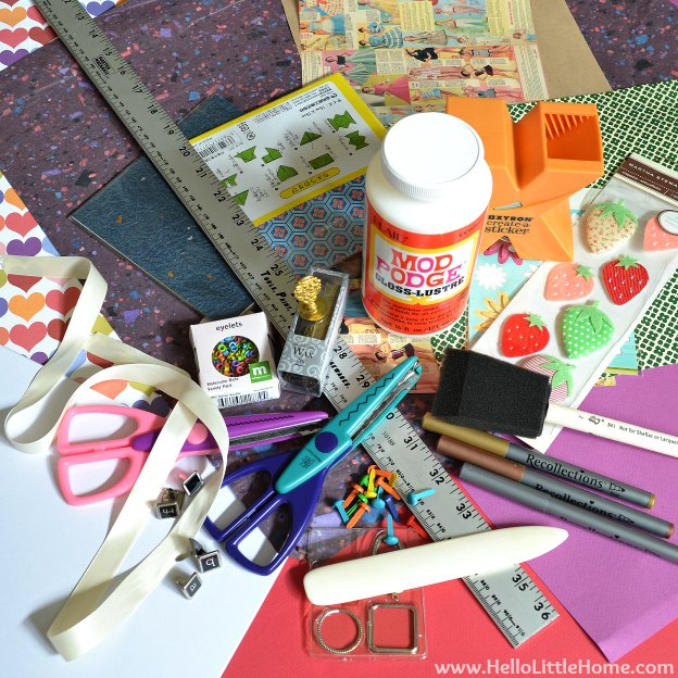 DIY Mother's Day Accordian Book Supplies | Hello Little Home #bookmaking #craft #bookbinding