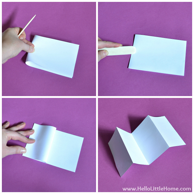 DIY Mother's Day Accordion Book: Creating Pages | Hello Little Home