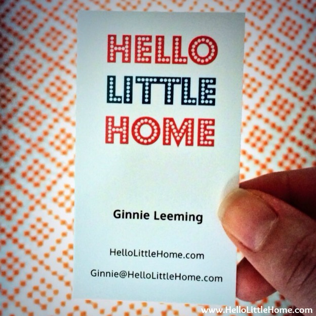 Hello Little Home Business Cards