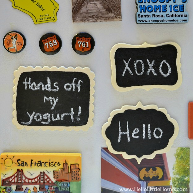Mini Chalkboard Magnets: Step by Step: Hello Little Home #DIY #craft