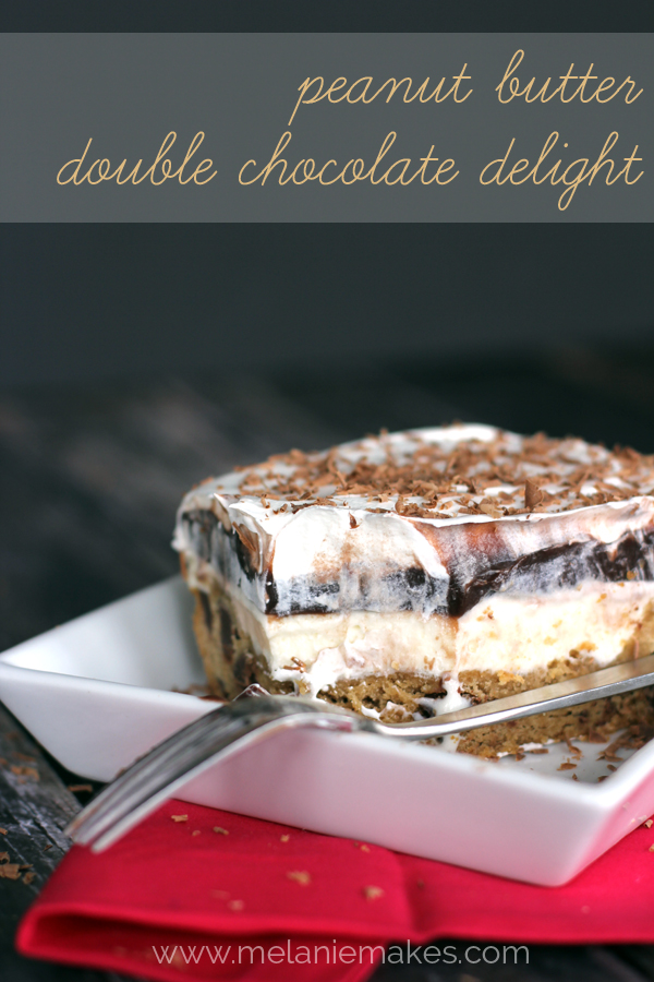Peanut Butter Double Chocolate Delight from Melanie Makes