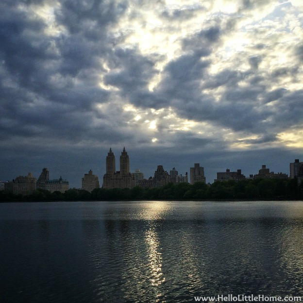 Central Park Reservoir Sunset | Hello Little Home
