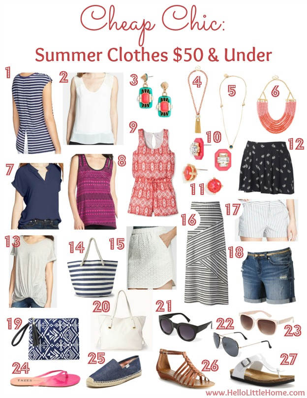 Cheap Chic: Summer Clothes Under $50 | Hello Little Home #fashion #style