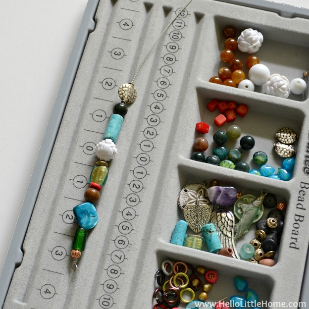 DIY Bubble Wand: Adding Beads to Wire   Hello Little Home #craft #kids #bubbles