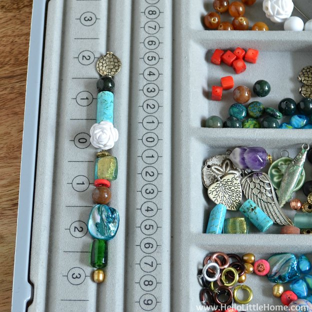 DIY Bubble Wand: Laying Out Beads | Hello Little Home #craft #kids #bubbles