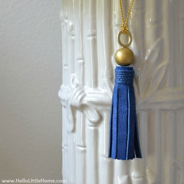 DIY Suede Tassels Tutorial ... the perfect addition to your home decor! | Hello Little Home